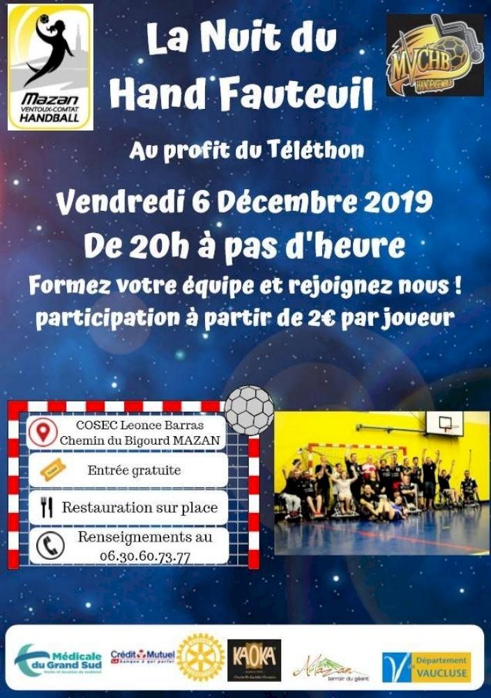 La Nuit du Hand Fauteuil à Mazan le 6 décembre 2019