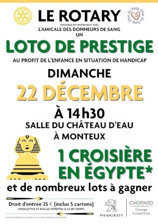 LOTO DE PRESTIGE à Monteux le 22 décembre 2019
