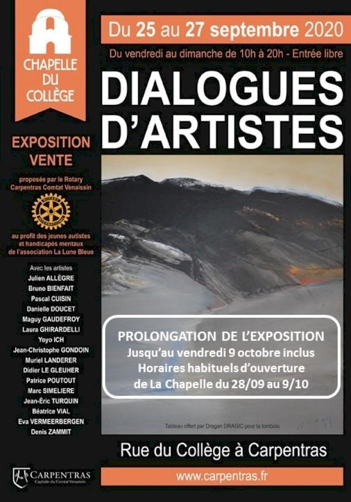 Dialogues d'Artistes du 25 au 9 octobre 2020