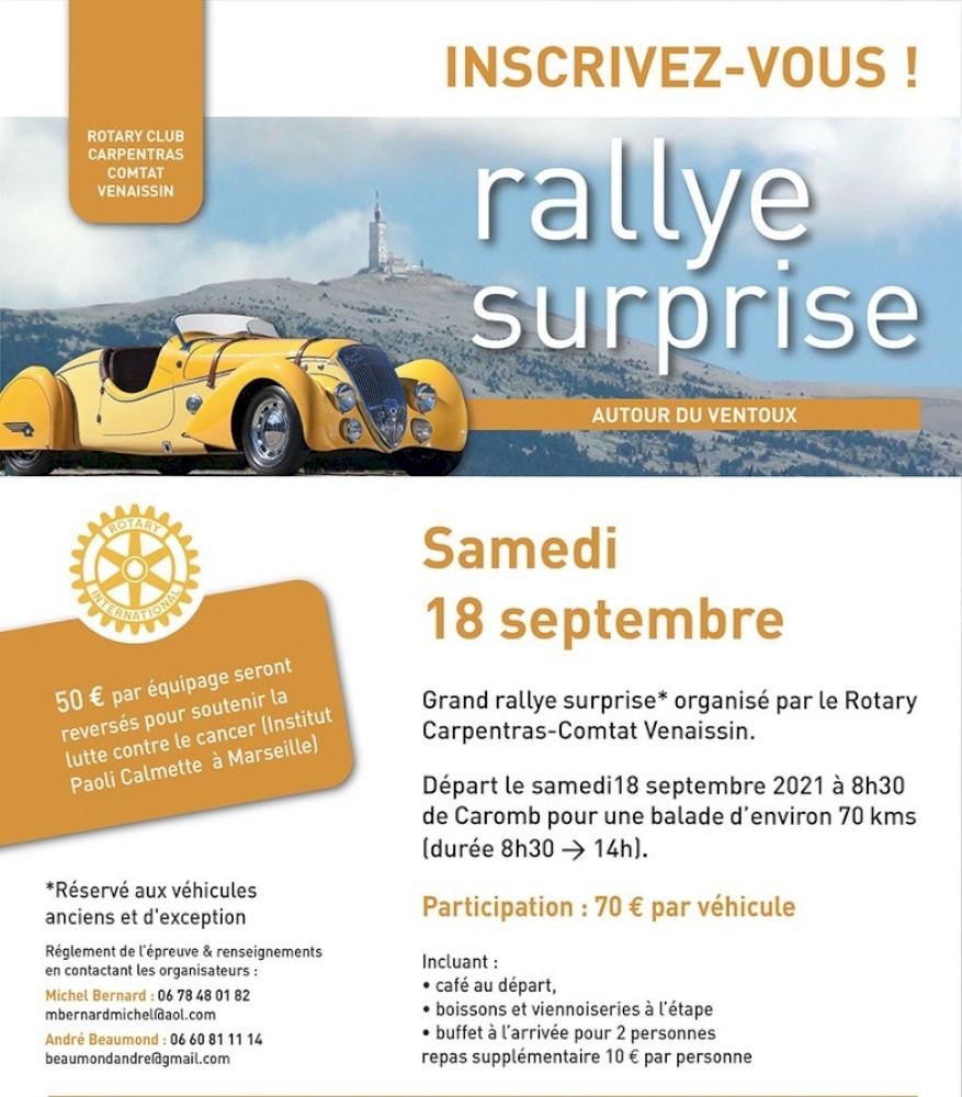Rallye Surprise le 21 Mai 2022